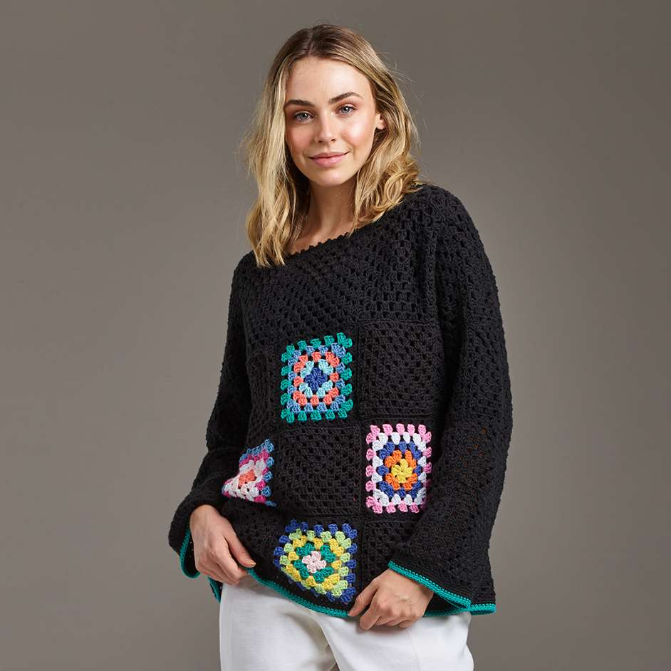 Flinders Granny Square Jumper Project