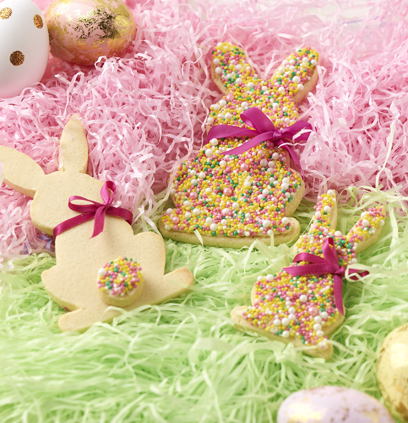 Freckle Bunny & Love Heart Easter Cookies Project