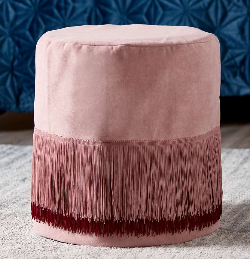 Fringe Ottoman Cover Project
