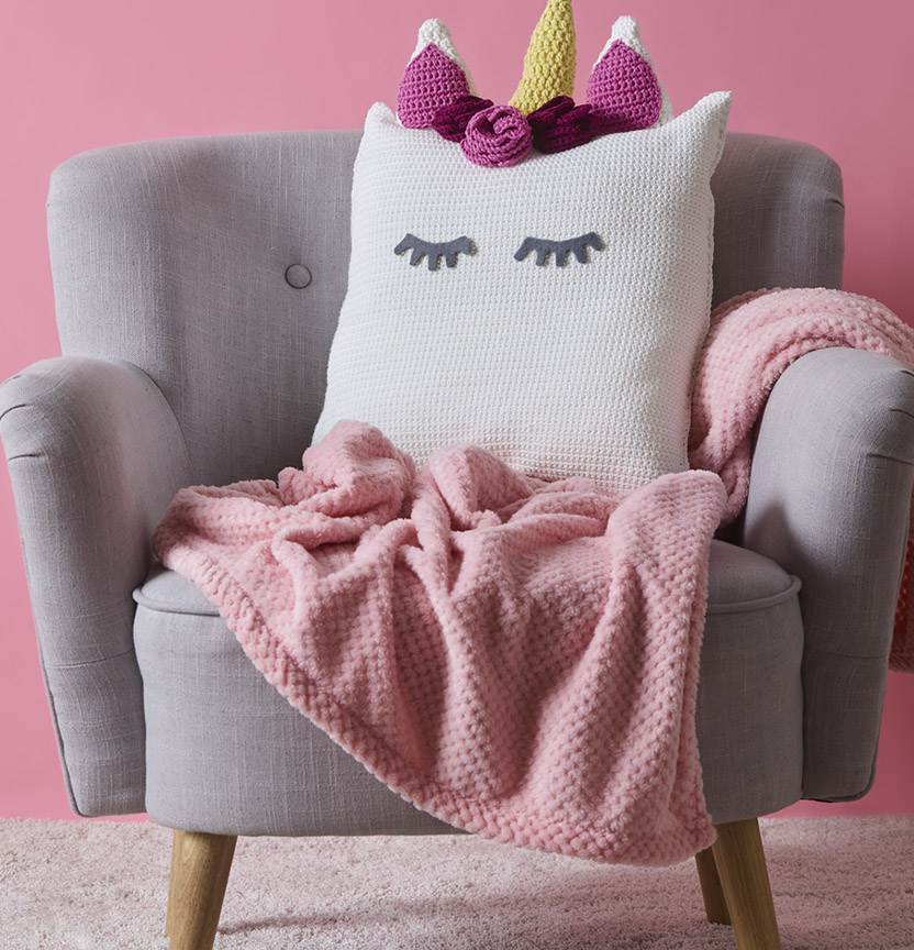 Gelato Unicorn Crochet Cushion Project