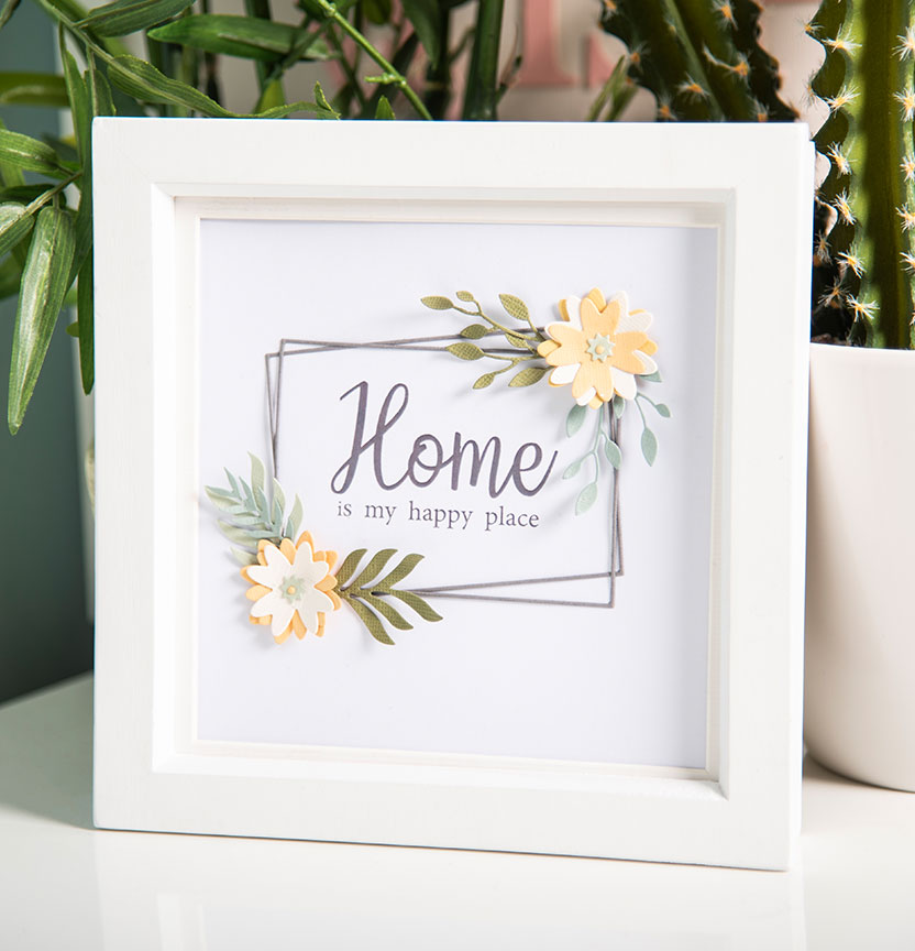Geo Floral Frame Project