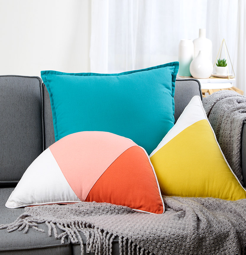 Geometric Summer Cushions Project
