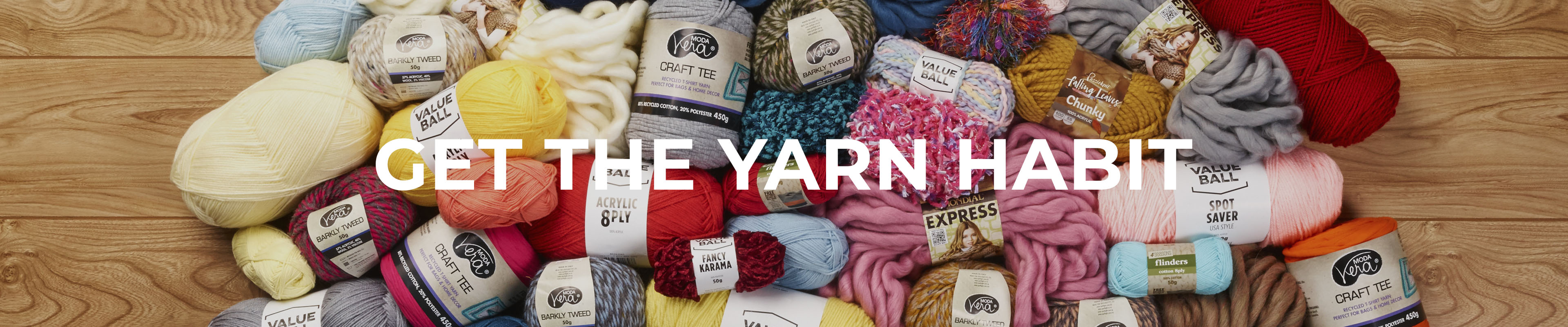 Shop Our Get The Yarn Habit Range