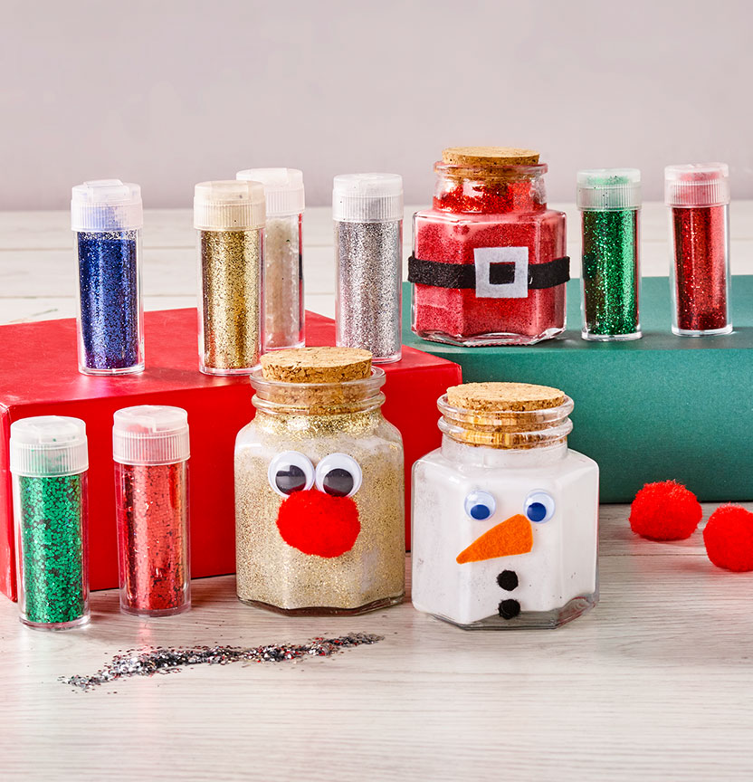 Glitter Christmas Jars Project