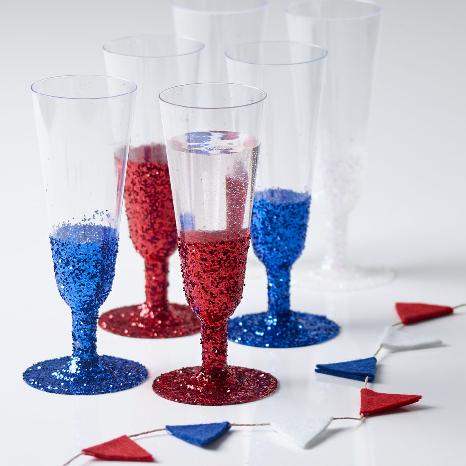 Glitter Dipped Cups Project