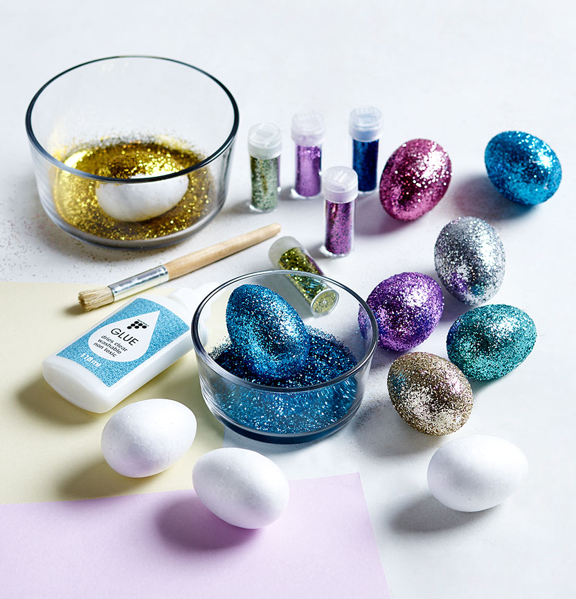 Glittered Egg Centrepiece Project