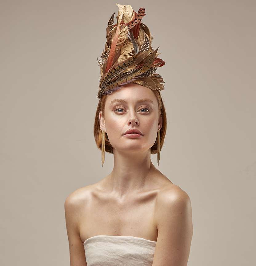 Gold Feather Fascinator Project