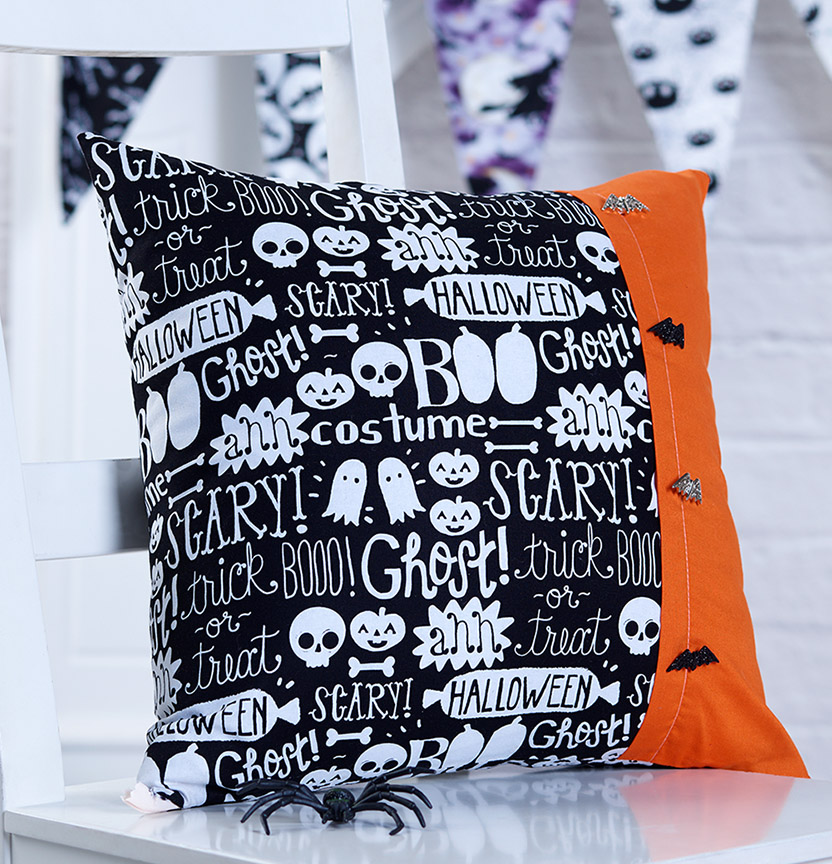 Halloween Button Cushion Project