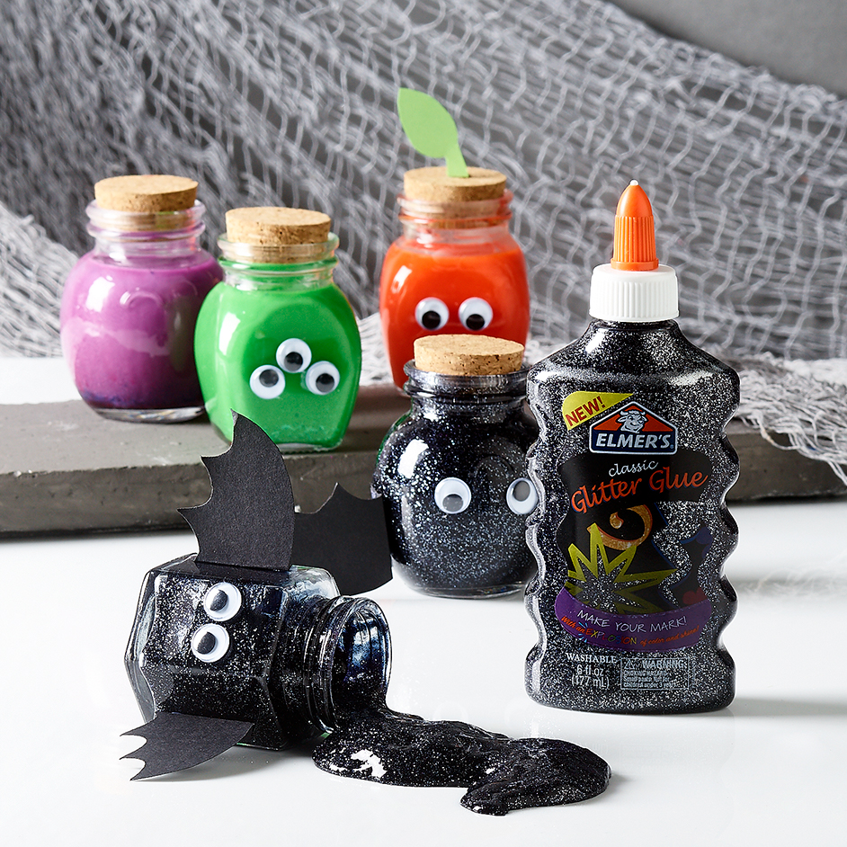 Halloween Slime Jars Project