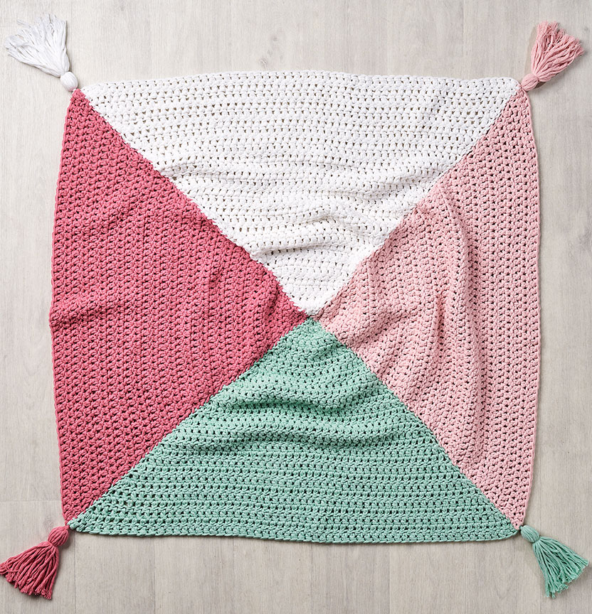 Hampton Soft Chunky Triangle Throw Project