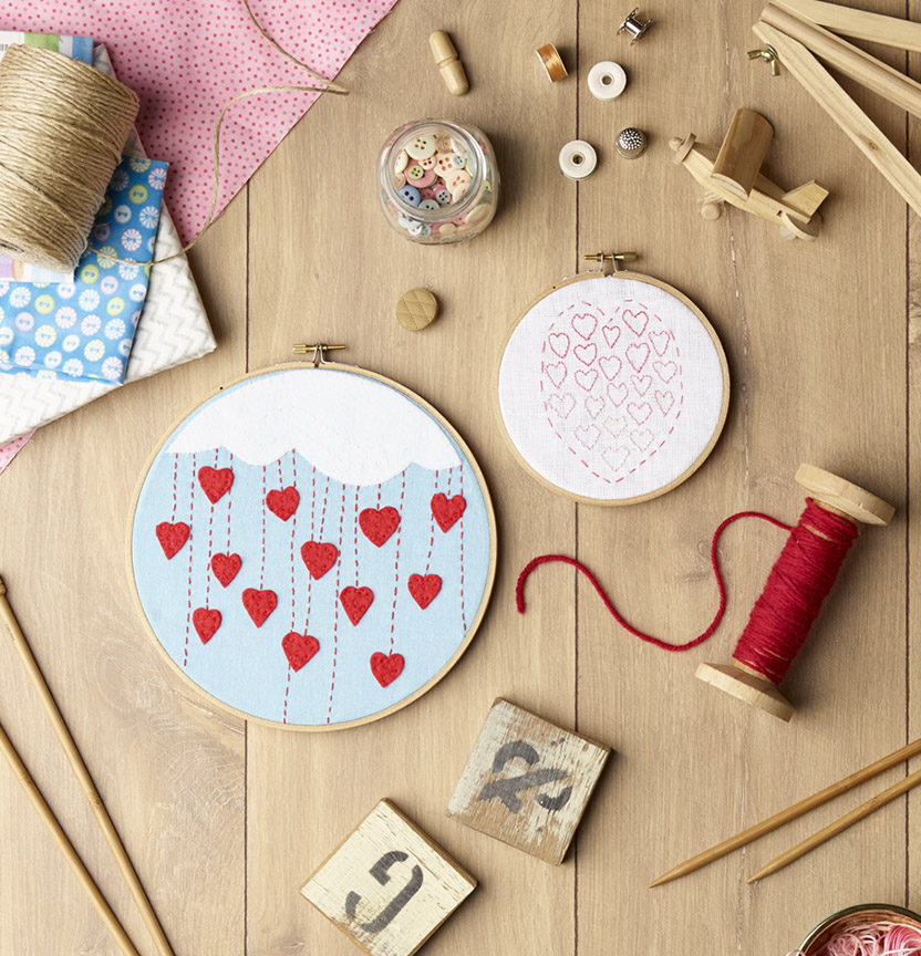 Heartfelt Stitches Embroidery Hoop Art Project