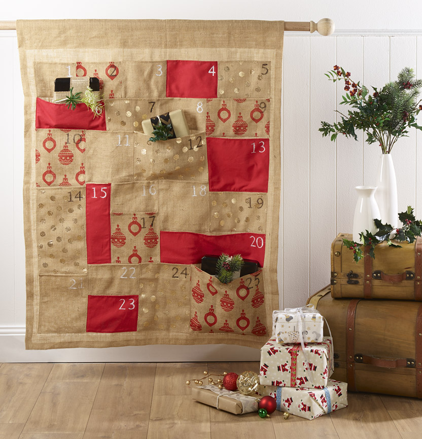 Hessian Advent Calendar Project