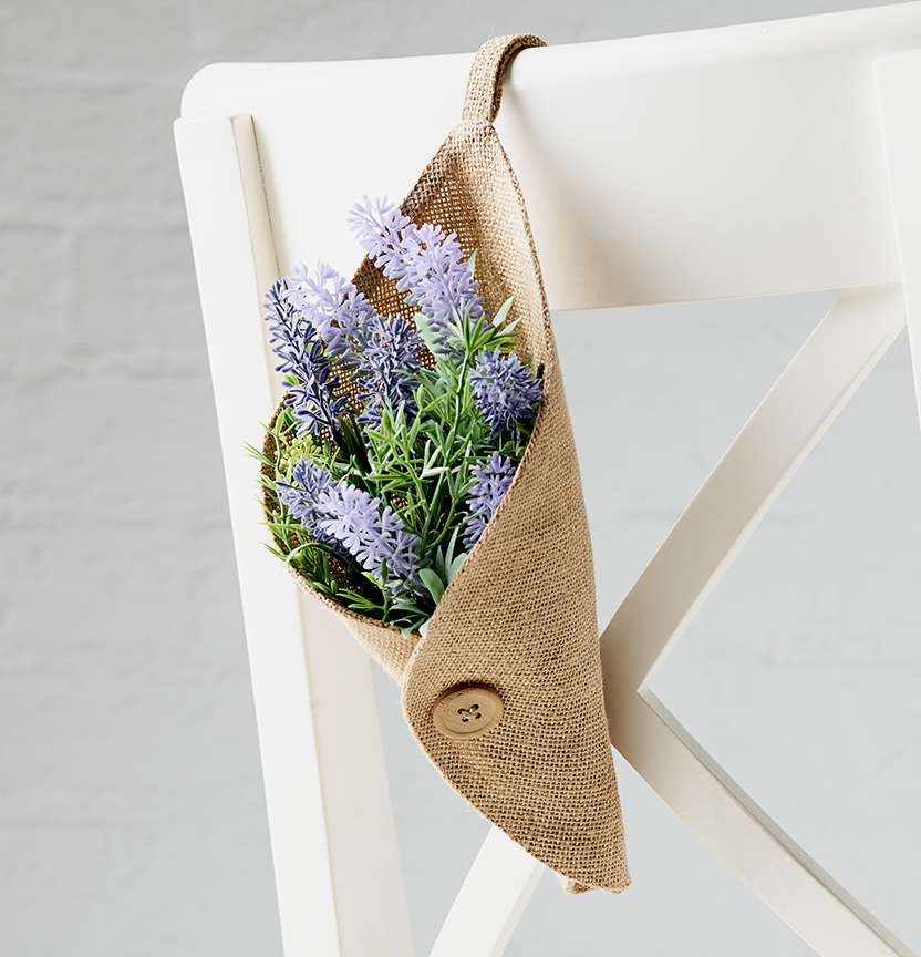 Hessian Flower Holder Project