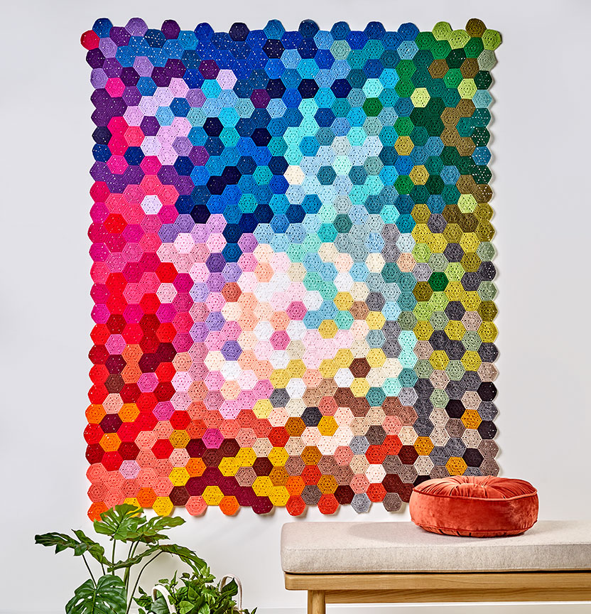 Hexagon Throw Wall Hanging Project