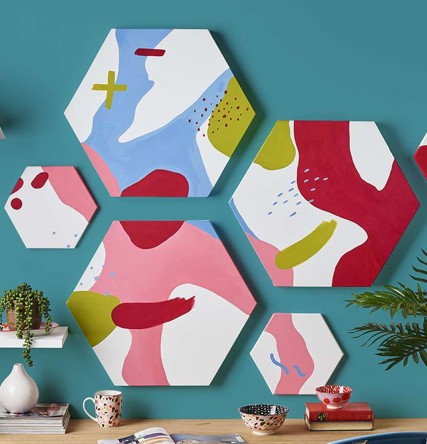 Hexagon Wall Art Project
