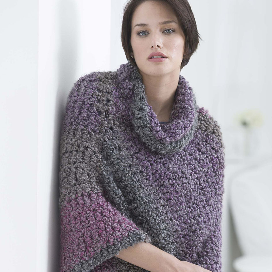 Homespun Thick And Cozy Cowl Poncho Project