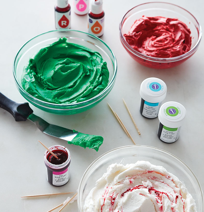 How To Colour Icing Project