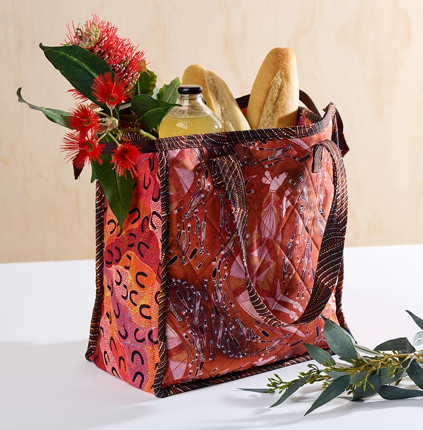 Indigenous Print Insulated Bag Project