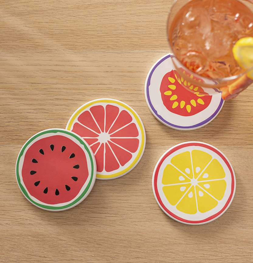 Infusible Ink Fruit Coasters Project