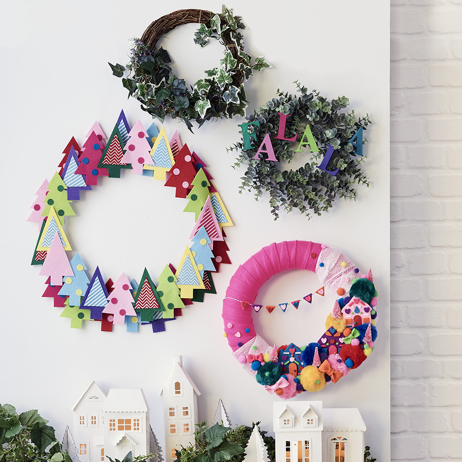 Jolly & Bright Christmas Wreaths Project