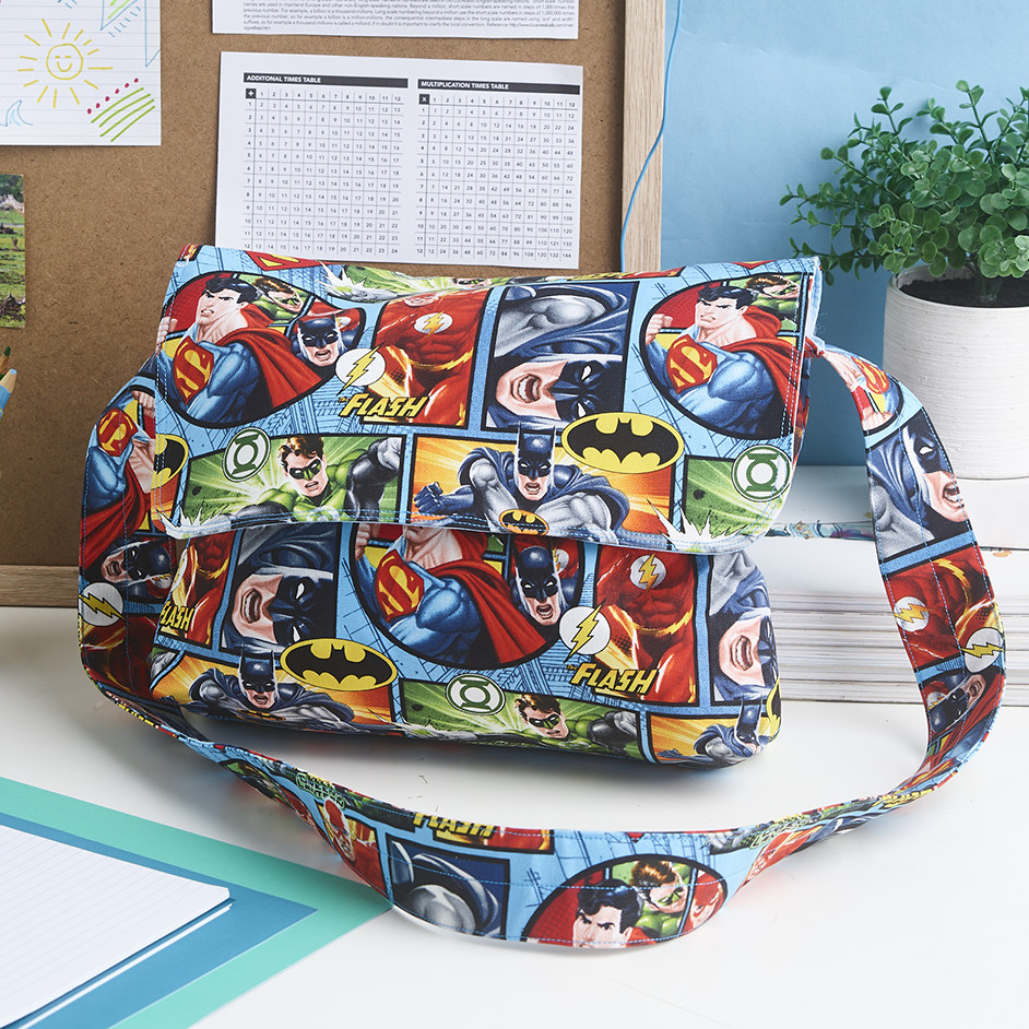 Justice League Messenger Bag Project