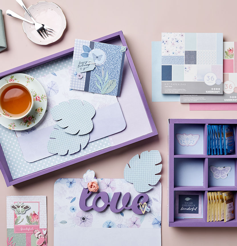 Kaisercraft Lilac Shadow Box Project