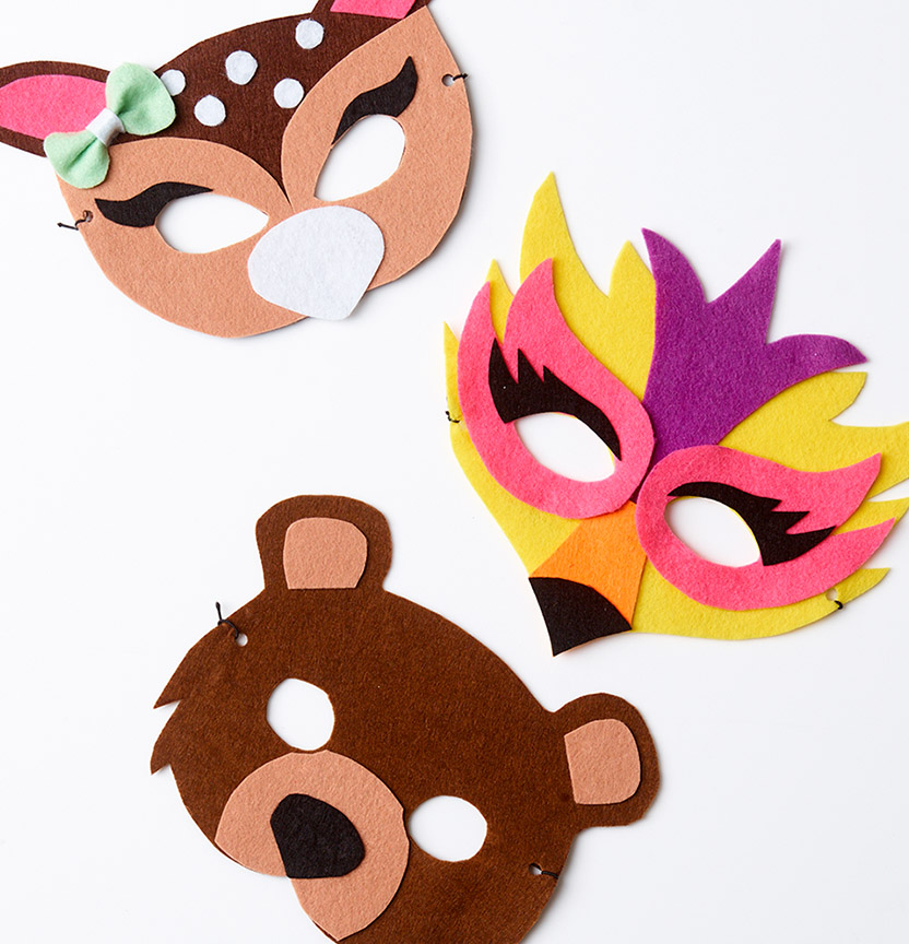 Kids Felt Masks Project