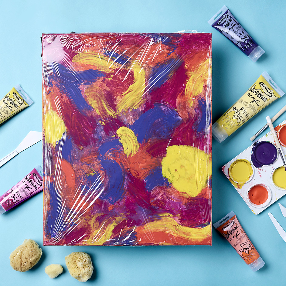 Kids Marble Painting Project
