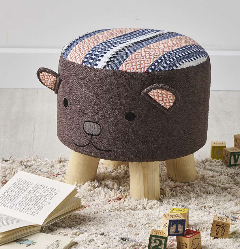 Kids Teddy Bear Stool Cover Project