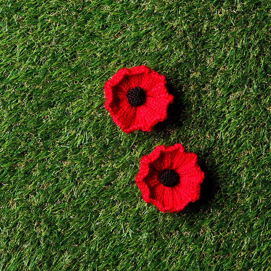 Knitted Rememberance Poppy Project