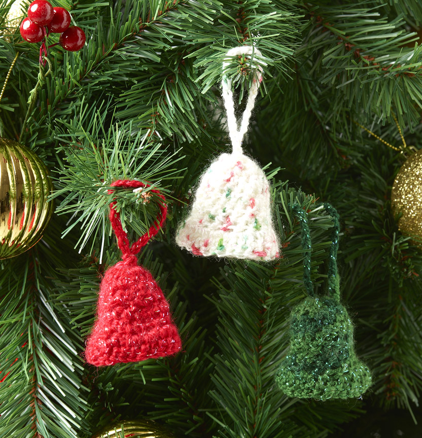 Kringle Sparkle 8Ply Crochet Bell Decoration Project
