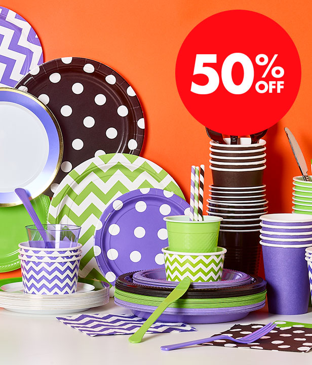 50% Off Amscan Party Tableware