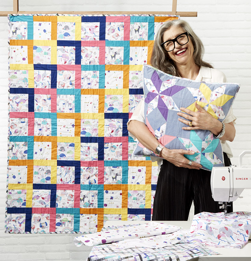 Laura Blythman Quilt & Cushion Project