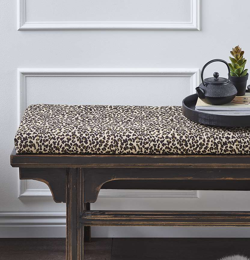 Leopard Bench Seat Cushion Project