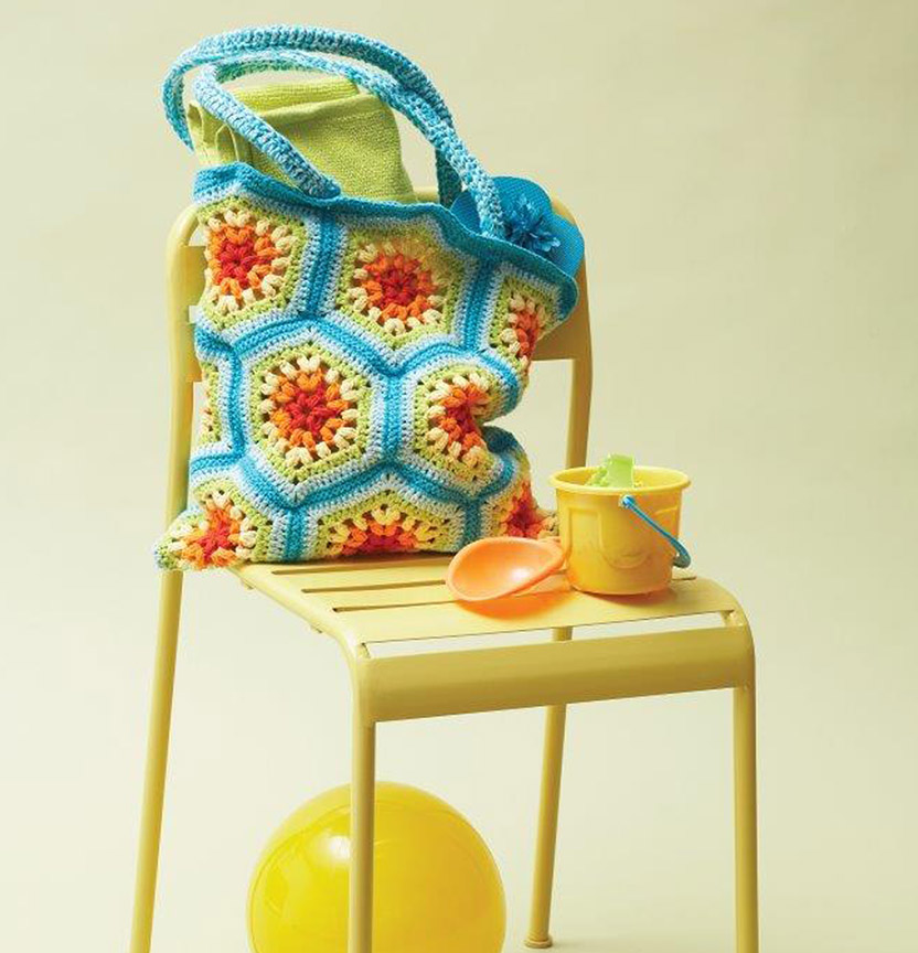 Lily Sugar N Cream Rainbow Hexagon Crochet Bag Project