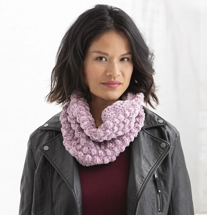 Lion Brand Vel-Luxe Cowl Project