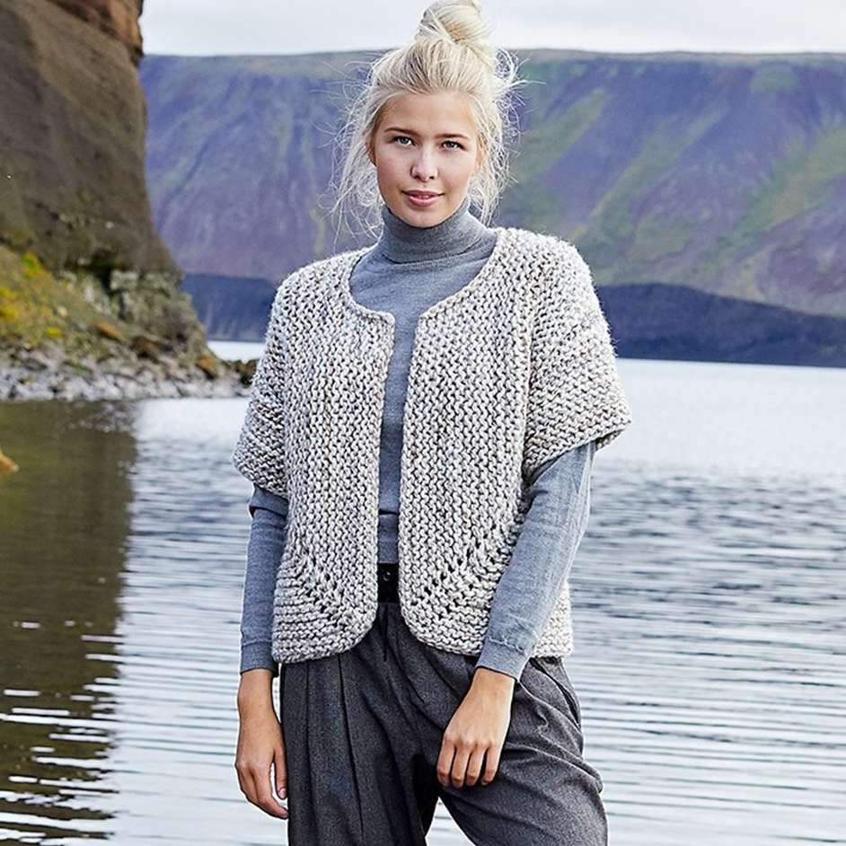 Lion Brand Wool-Ease Thick & Quick Jutka Cardigan Project