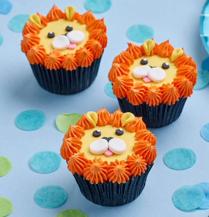 Lion Cup Cakes Project