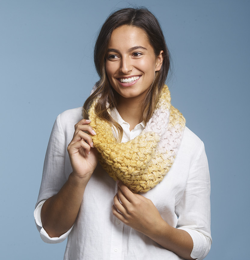 Loopy Yarn Cowl Project