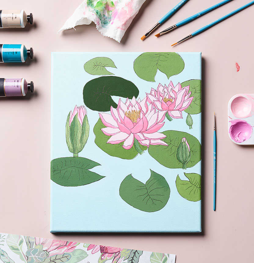 Lotus Painting Project