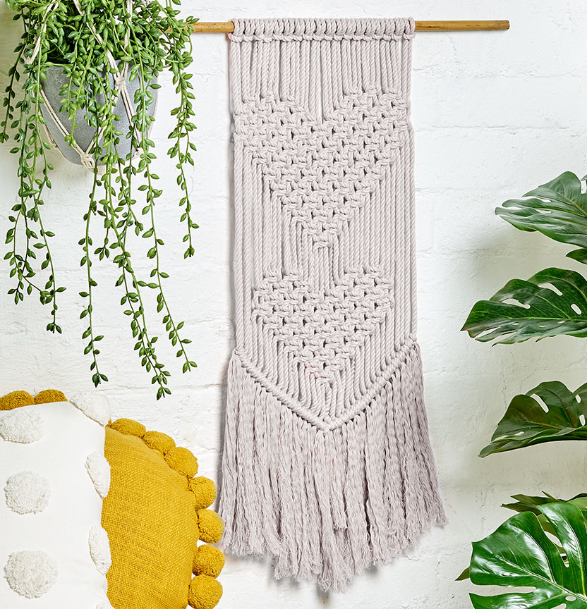Love Heart Macrame Wall Hanging