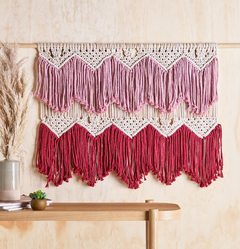 Macrame Fringe Wall Hanging Project