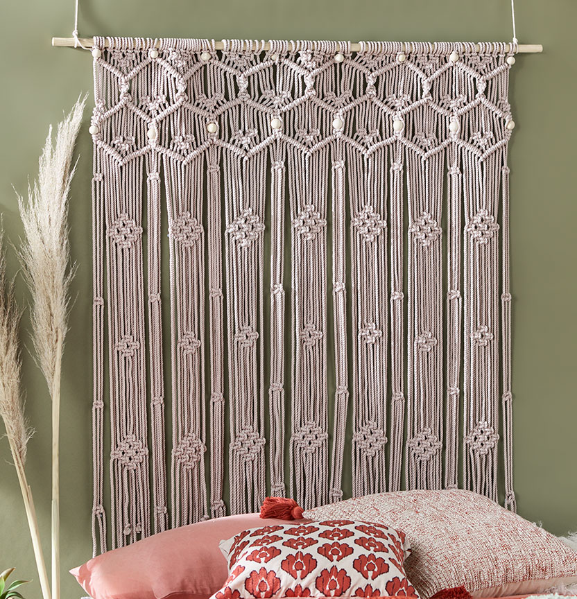 Macrame Honeycomb Wall Hanging Project