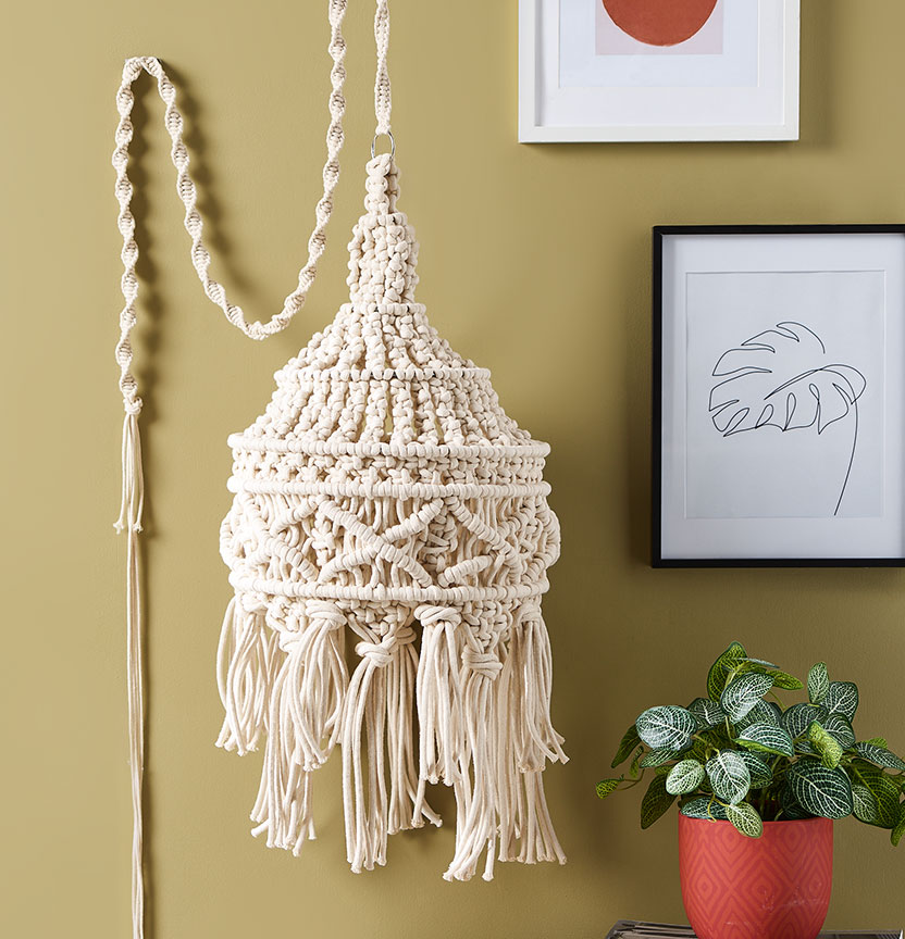 Macrame Lampshade Project