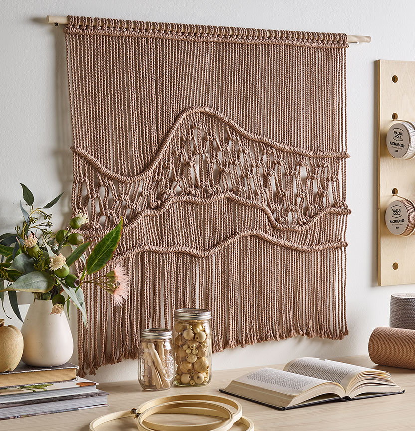 Macrame Landscape Wall Hanging Project