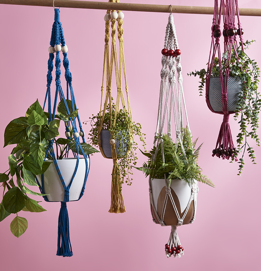 Macrame Pot Plants Project