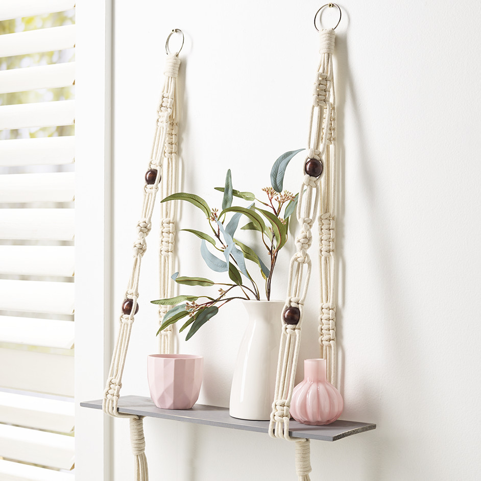 Macrame Shelf Holder Project
