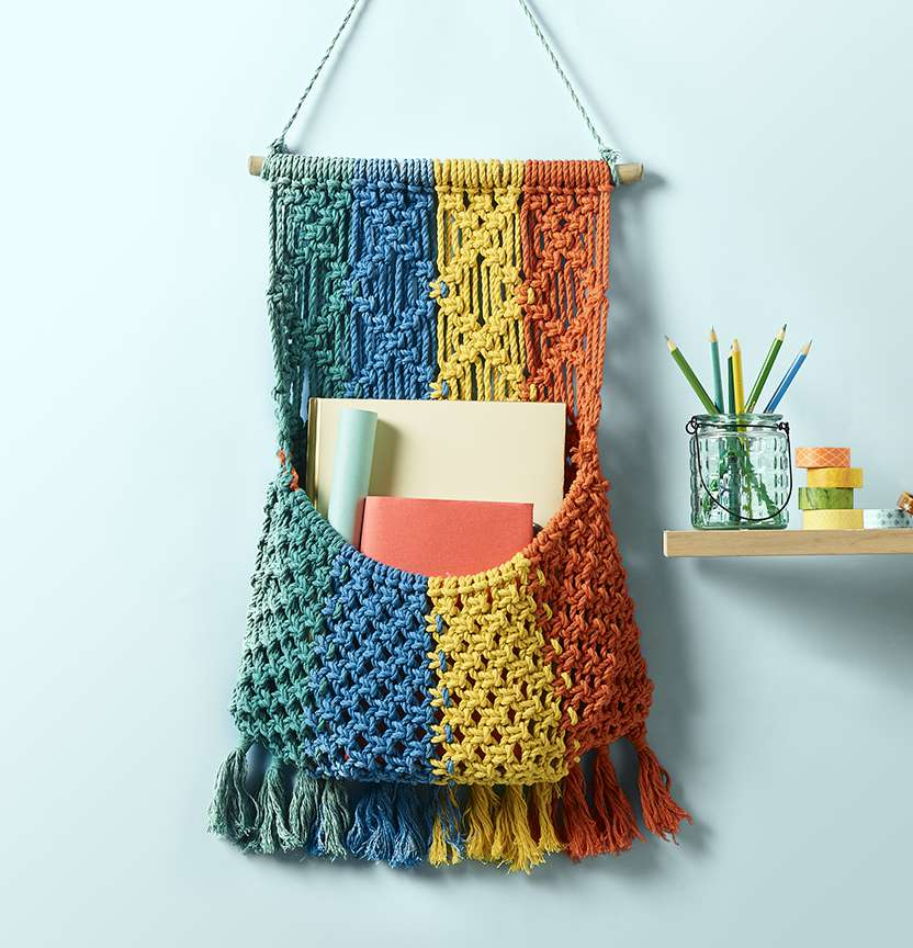 Macrame Wall Pocket Project