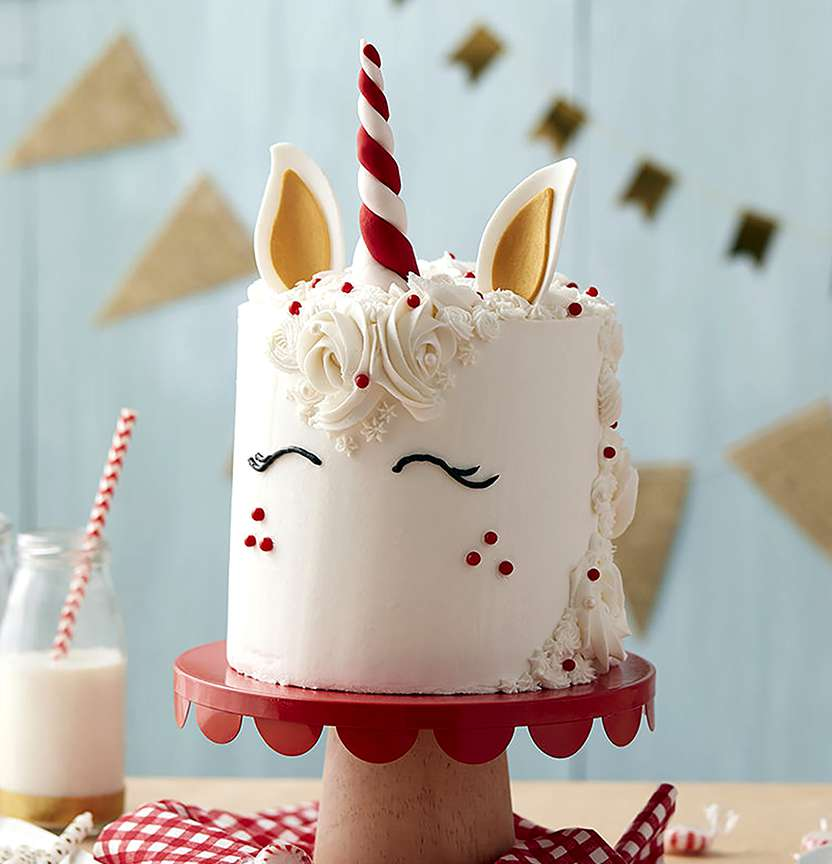 Magical Peppermint Unicorn Cake Project