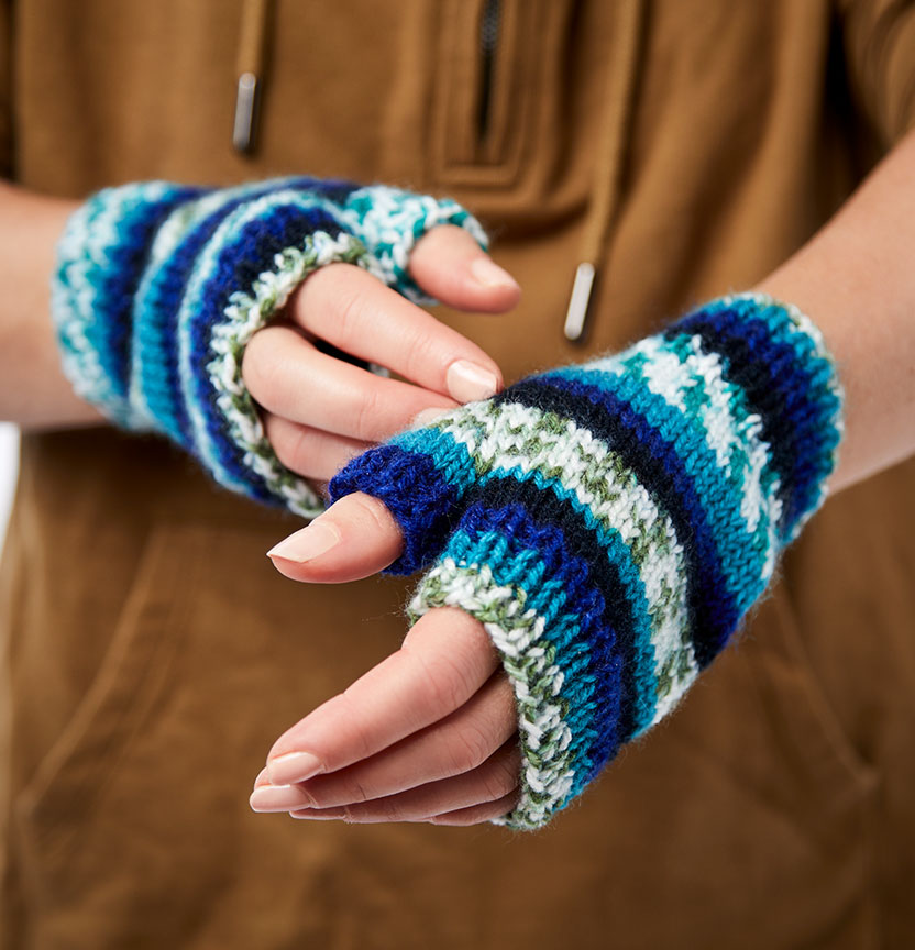 Marvel Magic Stripe Fingerless Gloves Project